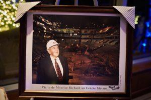 Maurice Richard visite le Centre Molson
